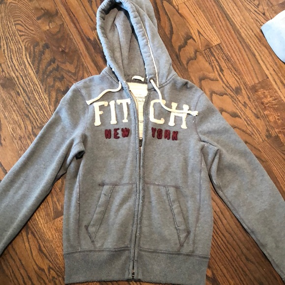 Abercrombie and Fitch grey zip up hoodie